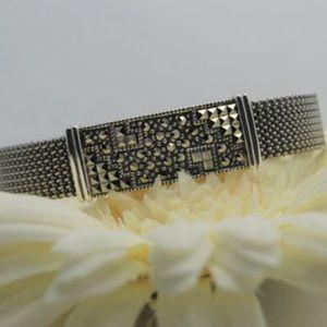 Judith Jack sterling mesh bracelet